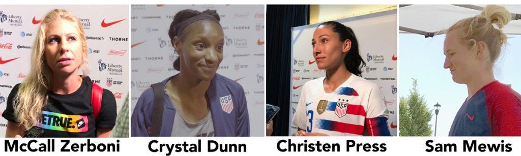 USWNT, Christen Press, McCall Zerboni, Crystal Dunn soccer podcast