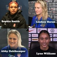 Sophia Smith, Lindsey Horan, Abby Dahlkemper, Lynn Williams